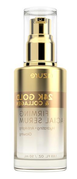 AZURE 24K Gold & Collagen Firming Facial Serum 1.69 Fl.Oz NI
