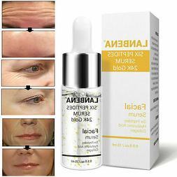24K Gold Six Peptides Serum Anti Wrinkle Collagen Hyaluronic