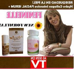 A. FEMINELLE 30 CAPS +Hydro Premium Collagen Facial Serum Ma