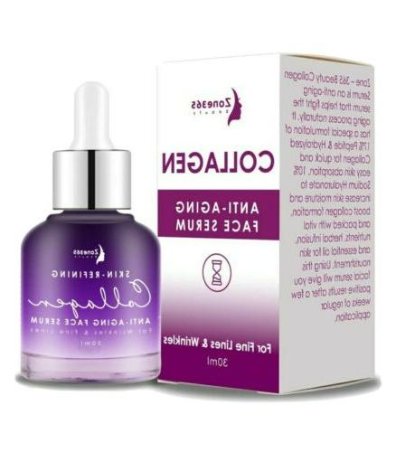collagen face serum with peptides and hyaluronic