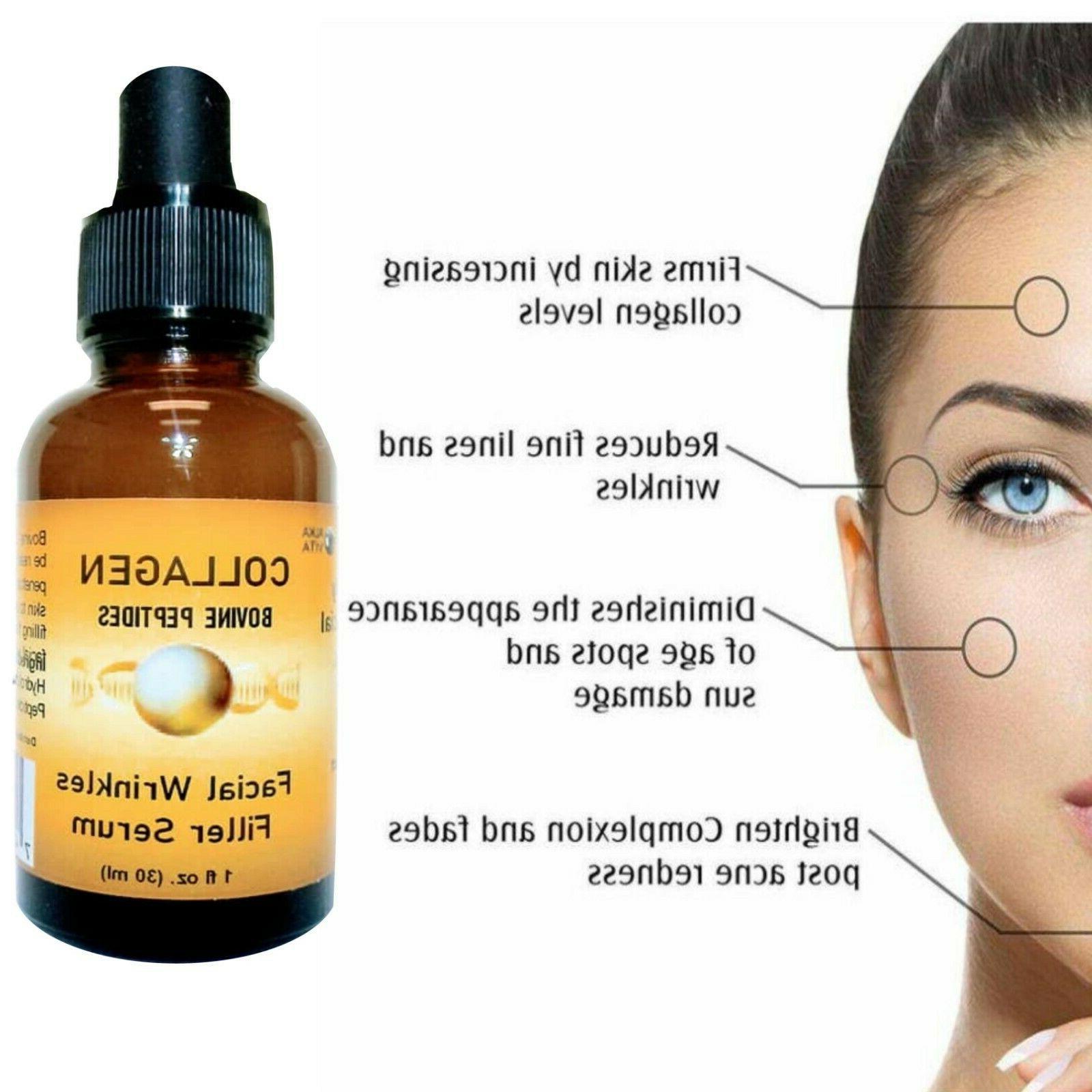 collagen peptides serum skin wrinkles filler hydrolyzed