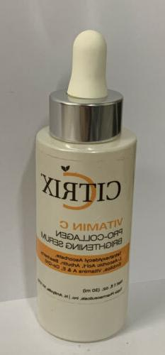 Citrix Vitamin C Pro-Collagen Brightening Serum Brand New &