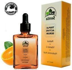 Vitamin C Face Serum cream + Retinol + Hyaluronic Acid. Best
